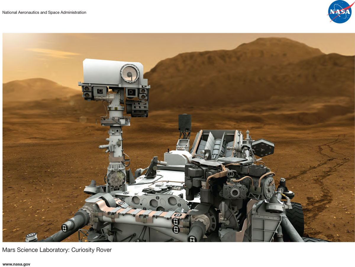 Curiosity's Post-Landing Lithograph
