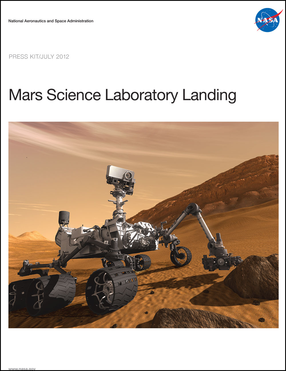 MSL landing press kit