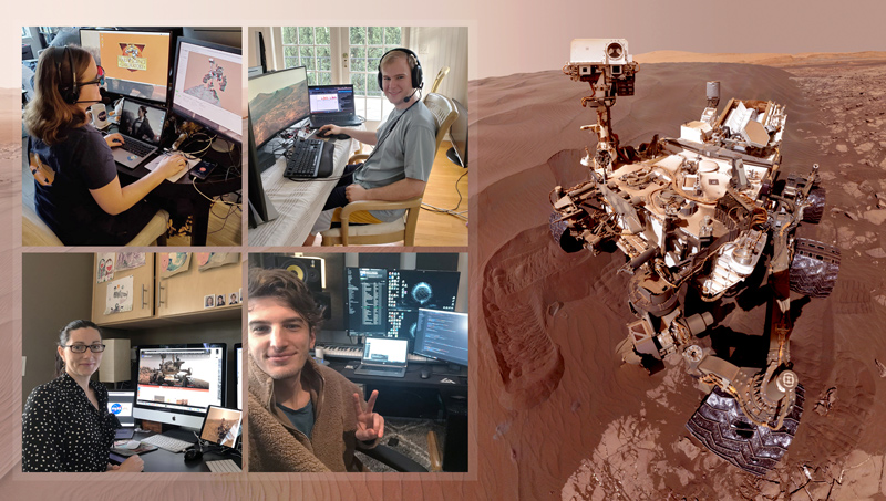 MSL team members working remotely