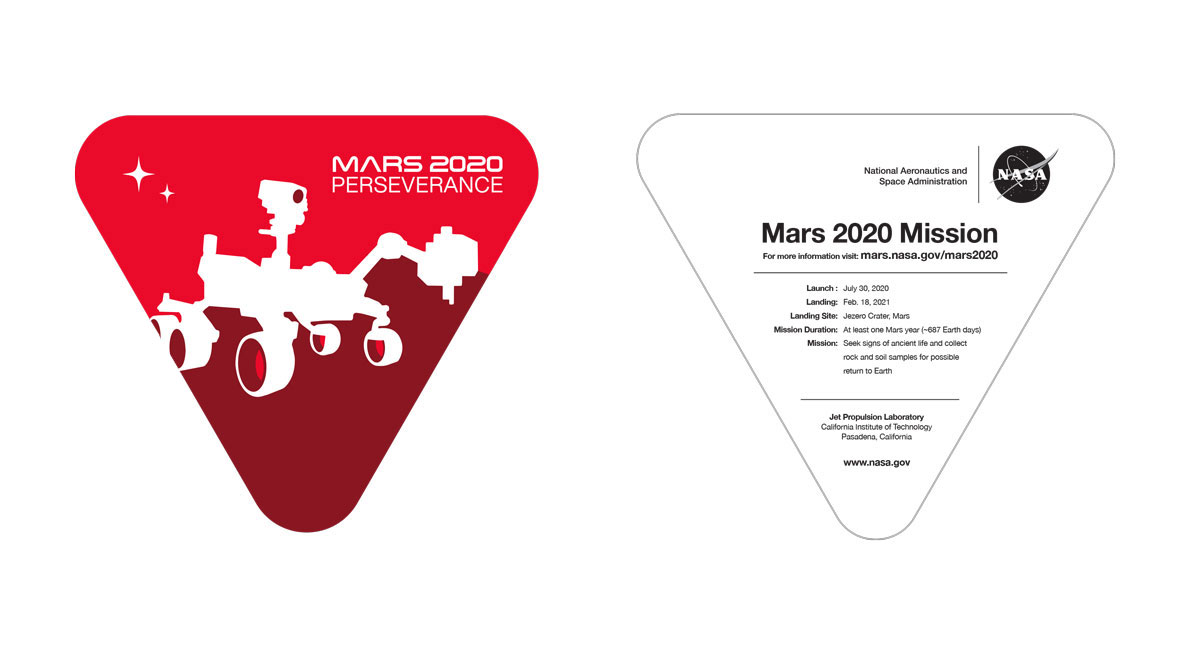 Mars 2020 sticker (English)
