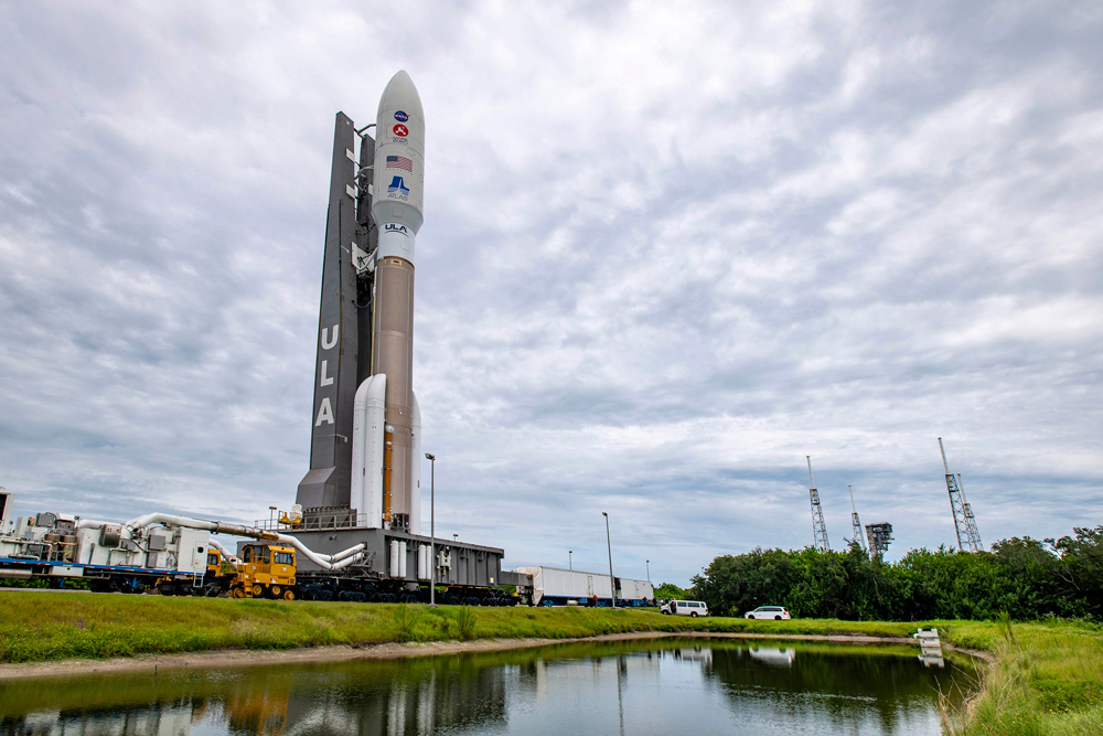 An Atlas V rocket with NASA's Mars 2020 mission on board