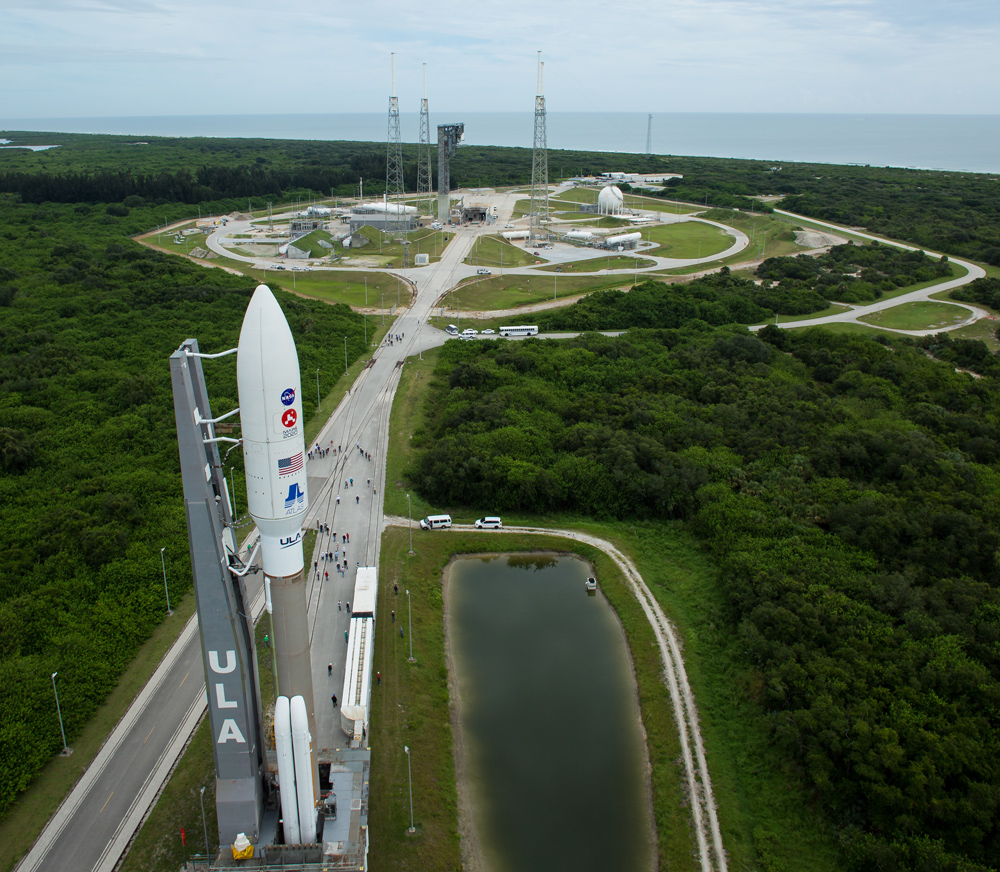 The Atlas V rocket with NASA's Mars 2020 Perseverance rover onboard at KSC