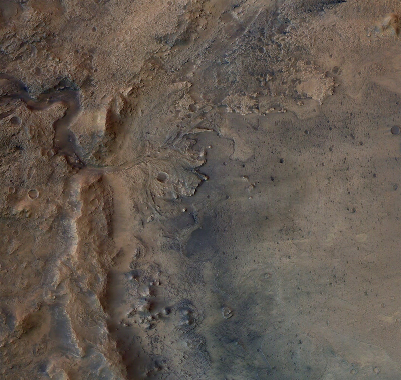 A view of Mars' Jezero Crater