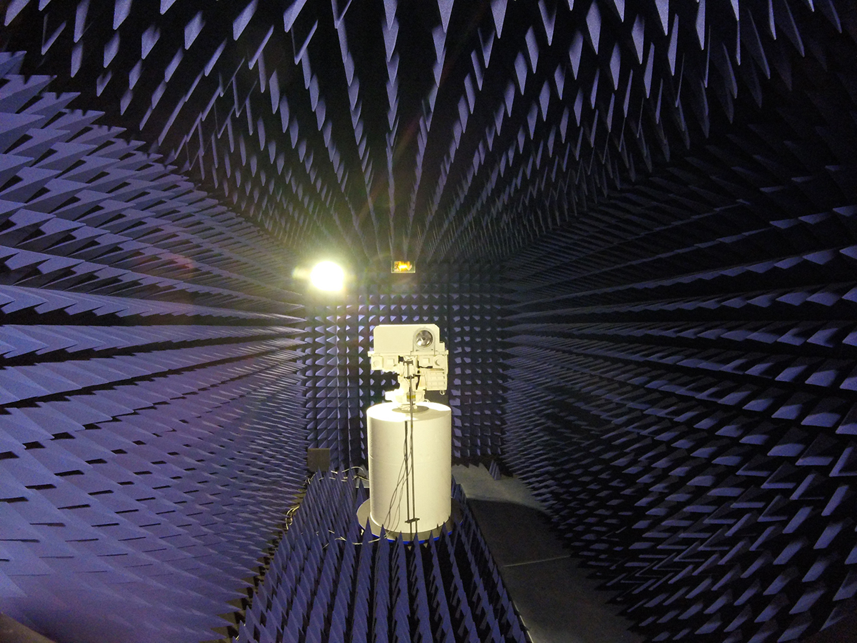 The amount and quality of sound received by a copy of SuperCam's microphone was measured in an anechoic chamber, designed to dampen soundwaves that reflect, or bounce off other surfaces.