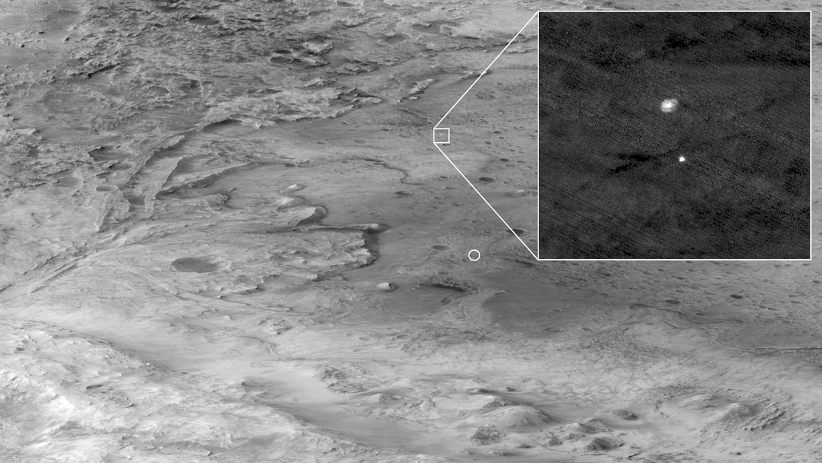 NASA's Perseverance Rover Sends Sneak Peek of Mars Landing