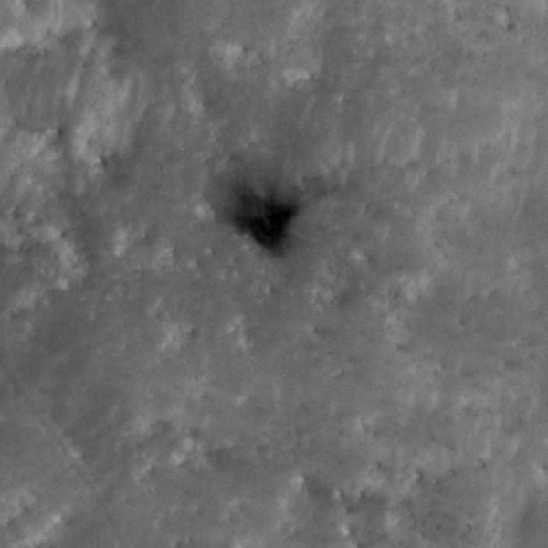 location of heat shield on Mars