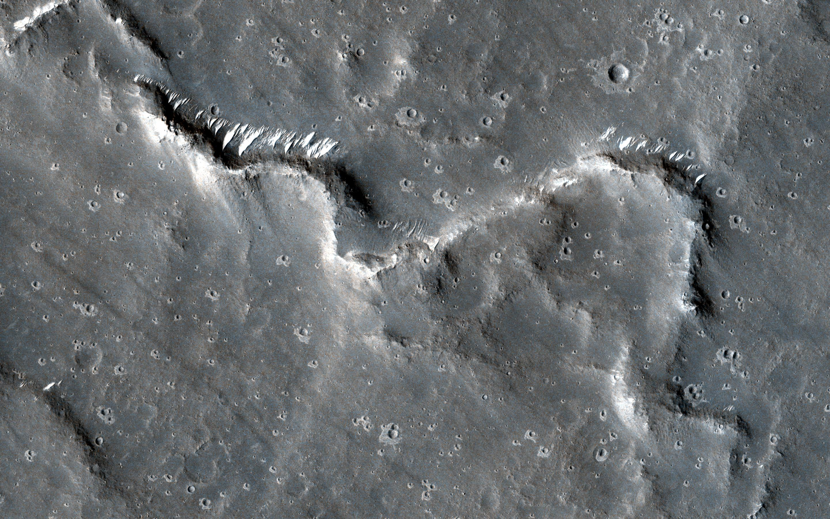 This image acquired on January 31, 2021 by NASAs Mars Reconnaissance Orbiter, shows a sinuous ridge that gives the appearance of a stream channel, but stays raised above the surface rather than incised into it.