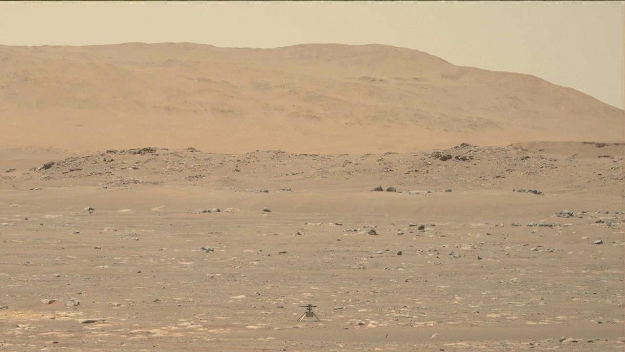 First Video of NASA's Ingenuity Mars Helicopter in Flight  – NASA's Mars Exploration Program