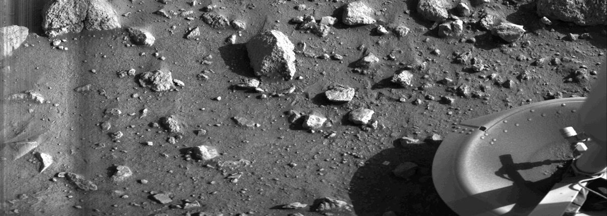 First photo ever taken on Mars: First image of Mars from Viking
