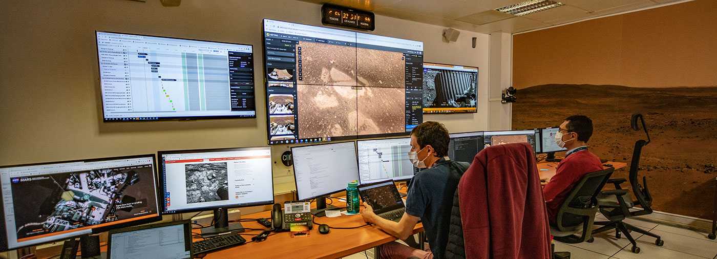 The Mars Perseverance rover's SuperCam instrument team uses COCPIT at the French Operations Center for Science and Exploration at the National Center for Space Studies field center in Toulouse, France.