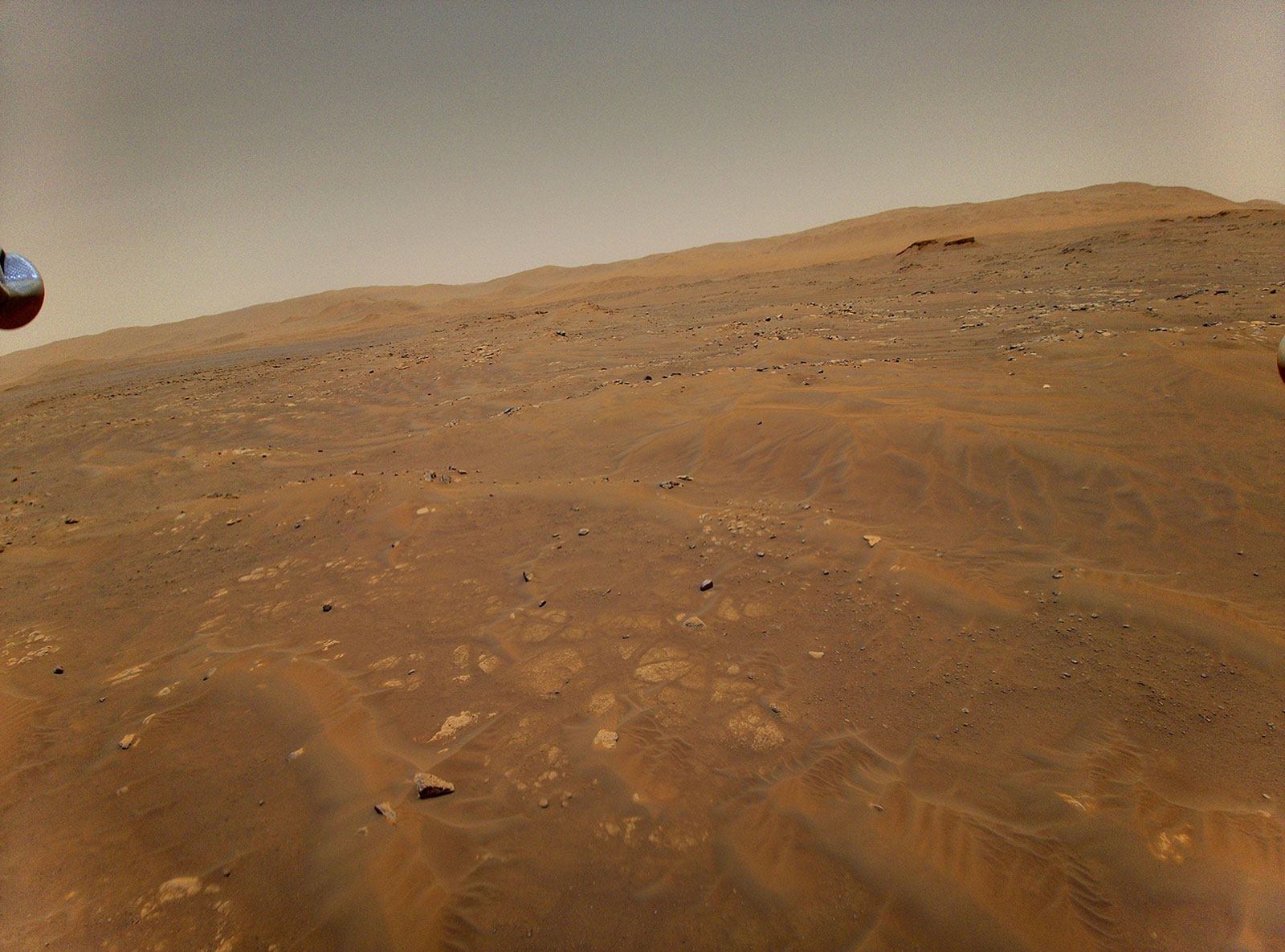 Image taken by the helicopter flying over Mars