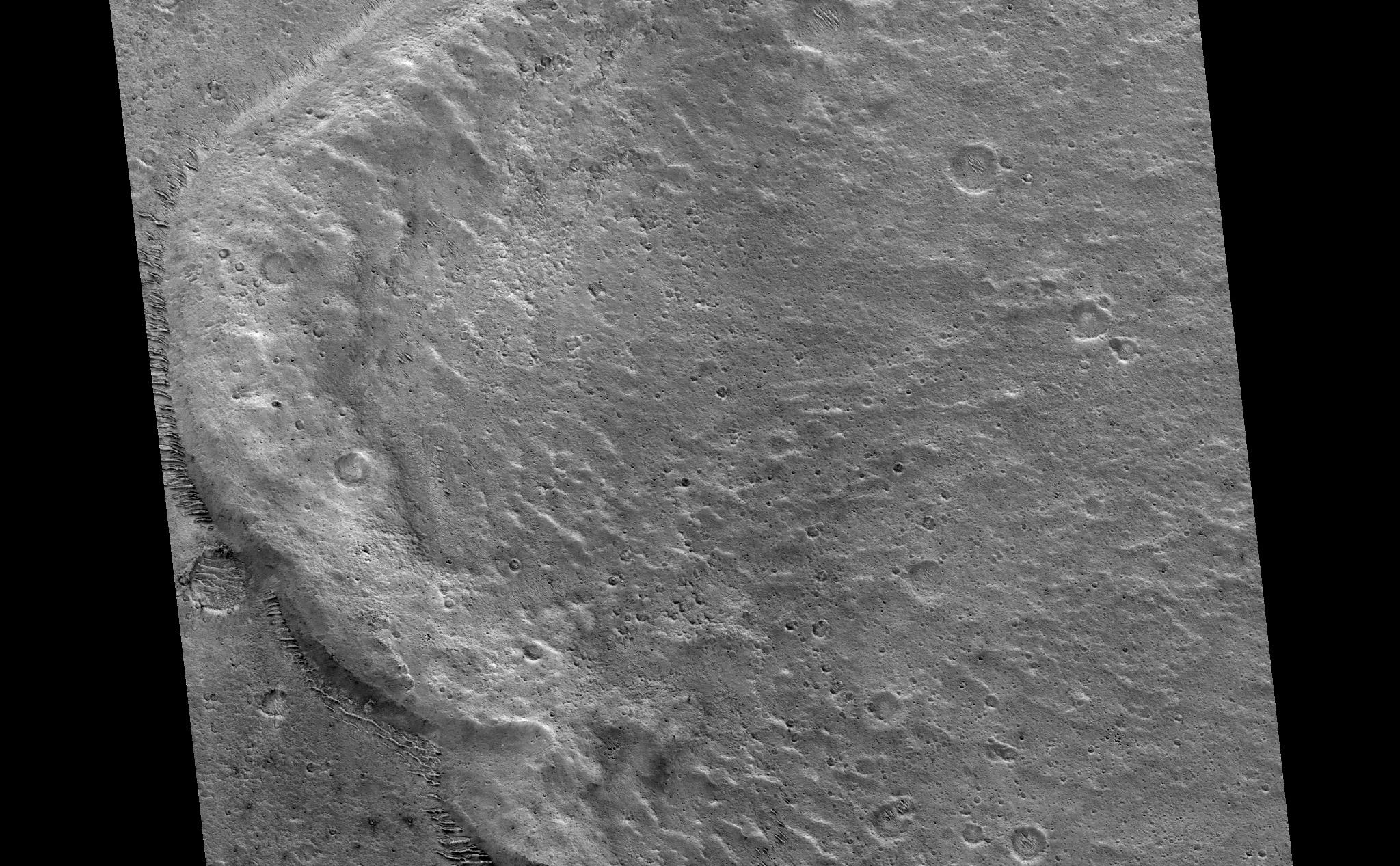 Distal Rampart of Crater in Chryse Planitia – NASA's Mars