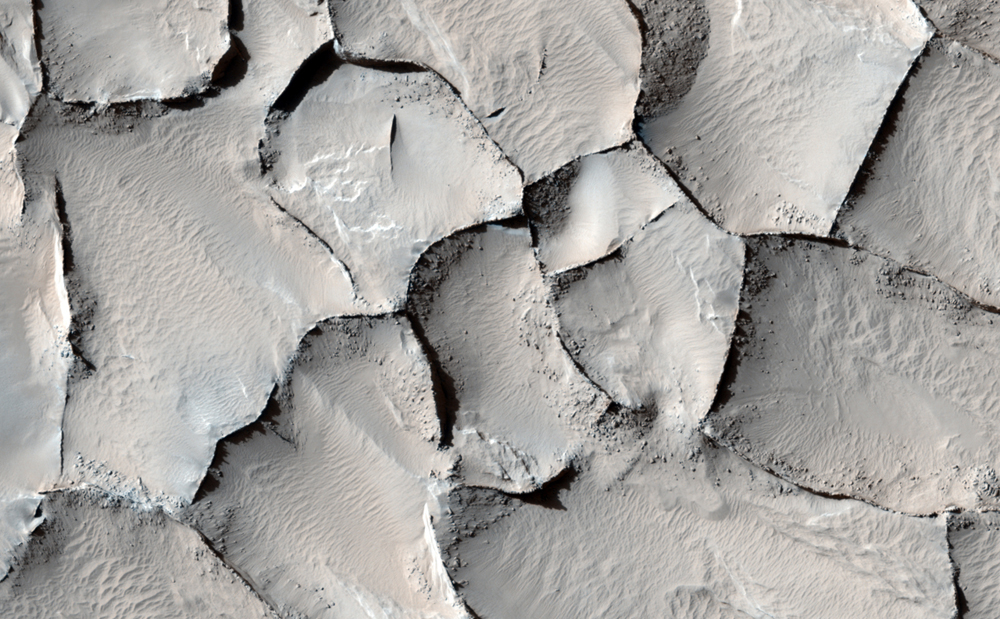 Polygonal Ridge in Gordii Dorsum Region, Mars