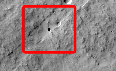 Martian Pit Feature Found by Seventh Graders