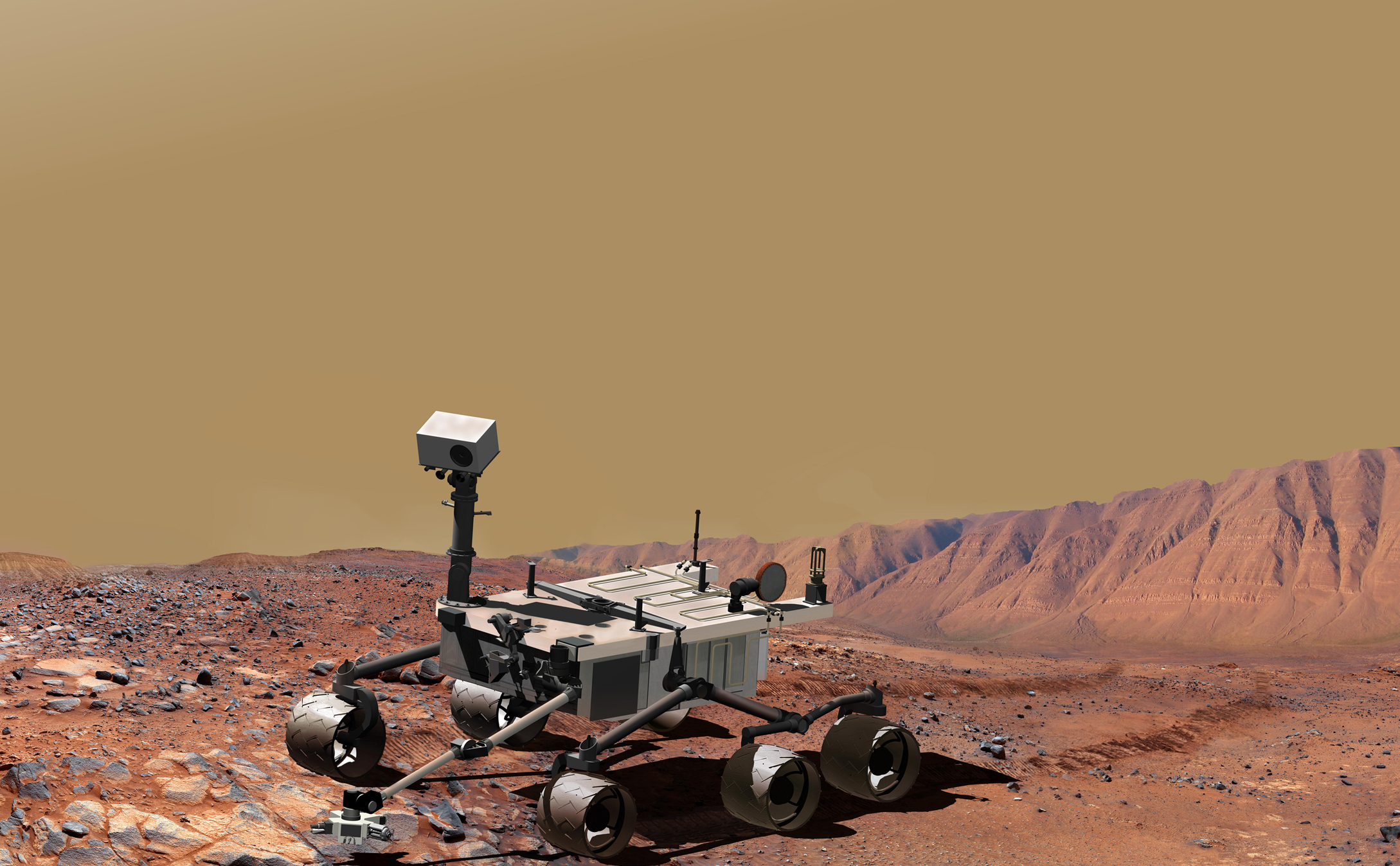 NASA's Mars Science Laboratory, a mobile robot for investigating Mars' past or present ability to sustain microbial life, is in development for a launch opportunity in 2009.