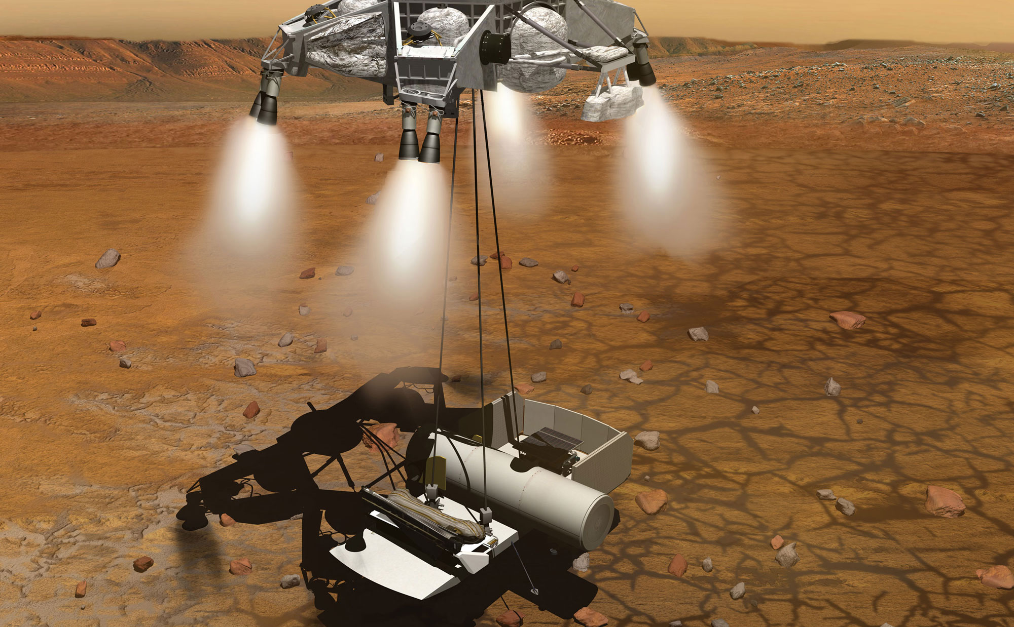 nasa curiosity landing - HD2000×1238