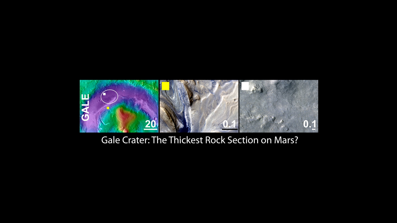 An area inside Gale crater was selected as the landing site for NASA's Mars Science Laboratory mission.