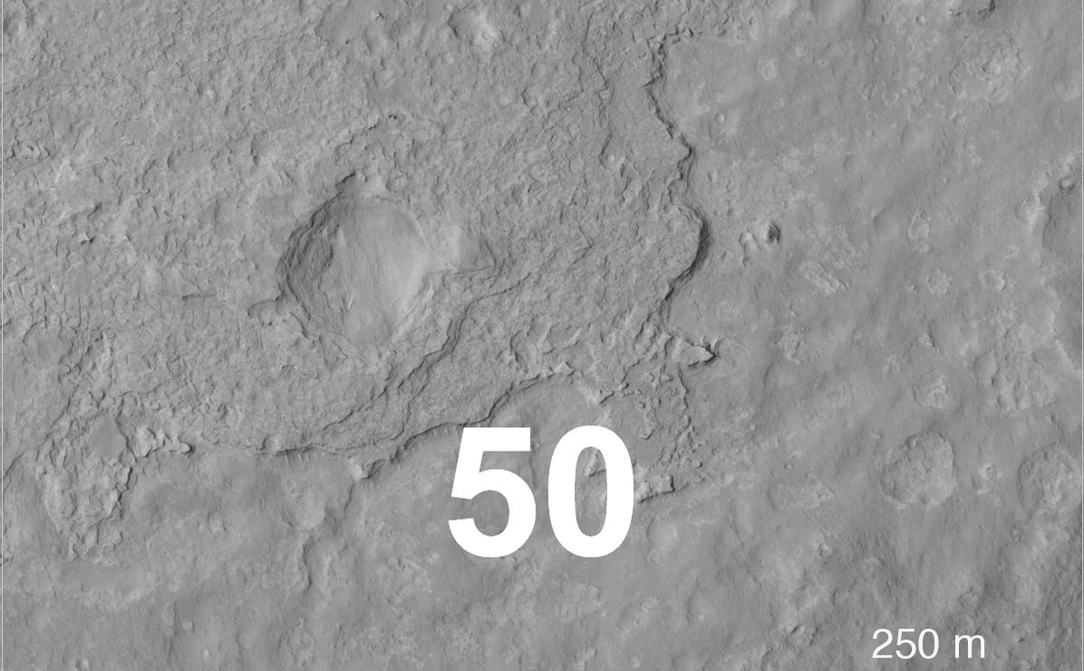 Close-up of Curiosity's Landing Region