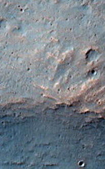 Image of Hesperia Planum from the HiRISE camera on Mars Reconnaissance Orbiter.