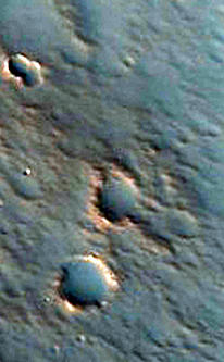 Well-Preserved Crater with Central Peak in Chryse Planitia