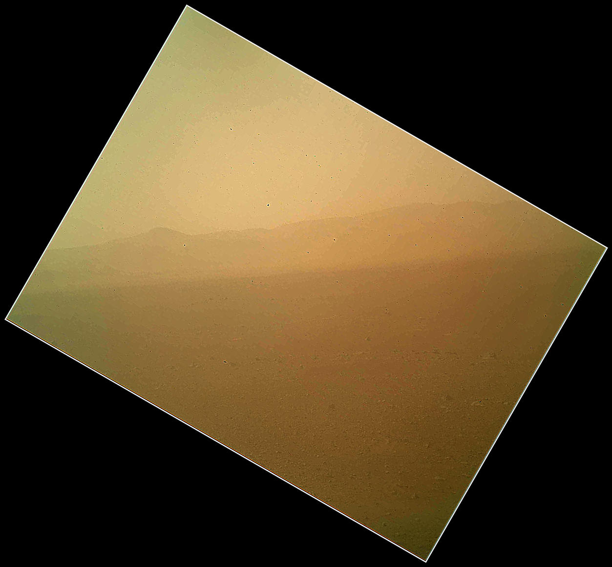 First Color Image of the Martian Landscape Returned from Curiosity