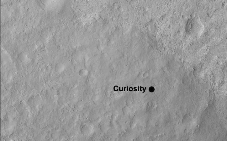 Curiosity's Quad - this image shows the quadrangle where NASA's Curiosity rover landed, now called Yellowknife.