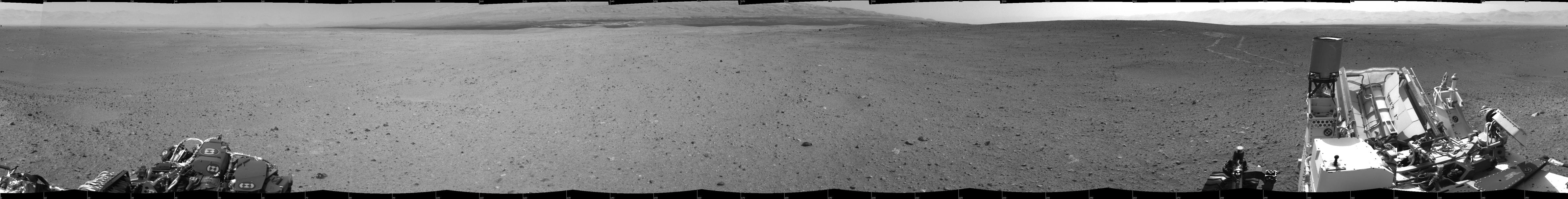 Looking Back at Tracks from Sol 24 Drive