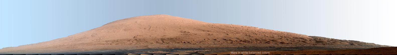 Image of Mount Sharp Panorama in White-Balanced Colors