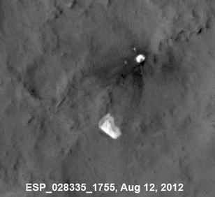 Curiosity's Parachute Flapping in the Wind