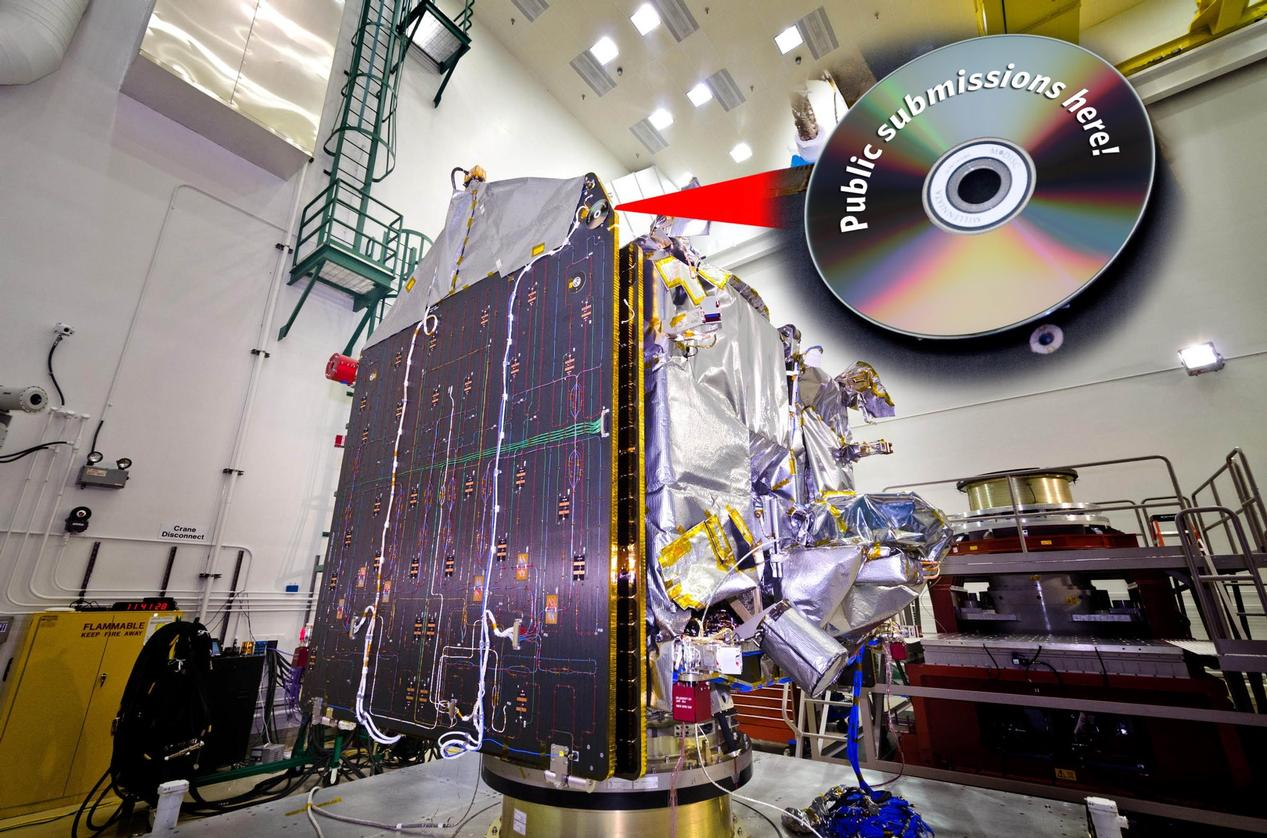 On May 1, 2013, followers of the NASA MAVEN mission can begin entering their names to be placed on a specially designed DVD that will accompany the spacecraft on its journey to Mars this November.