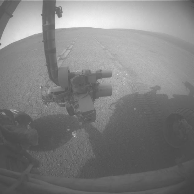 On the 3,309th Martian day, or sol, of its mission on Mars (May 15, 2013) NASA's Mars Exploration Rover Opportunity drove 263 feet (80 meters) southward along the western rim of Endeavour Crater.
