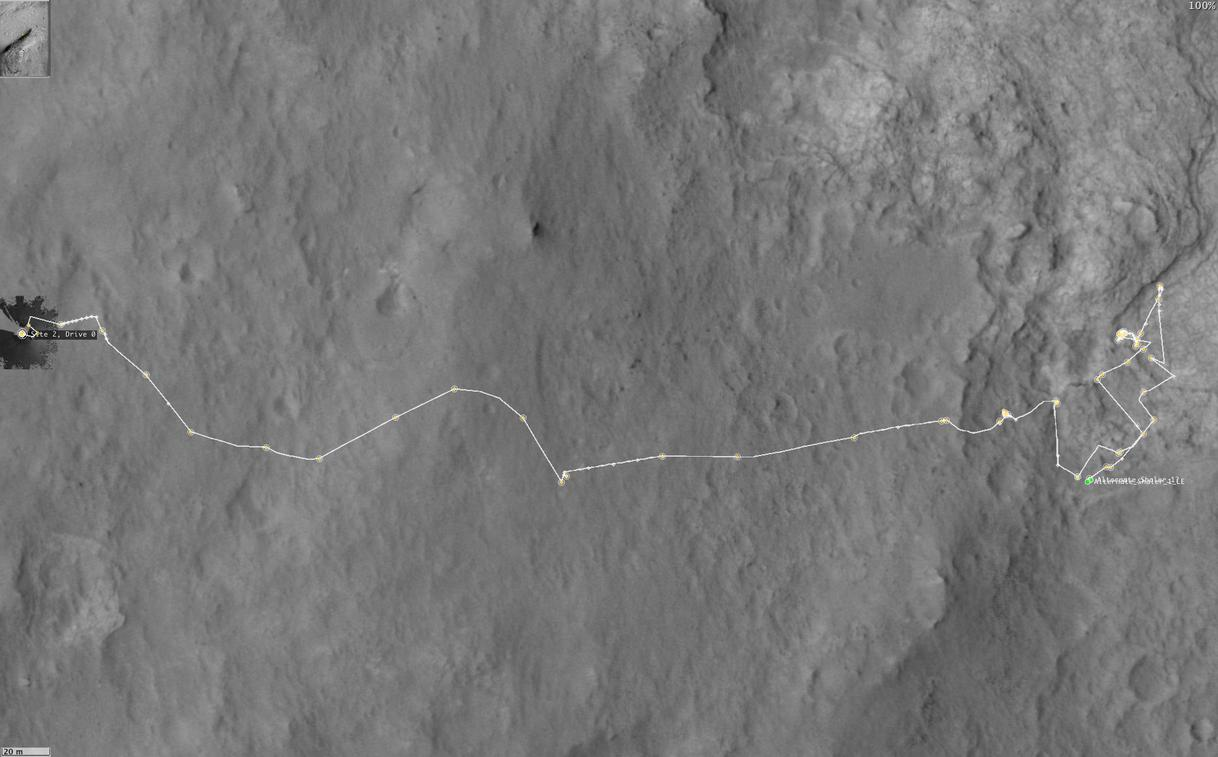 Curiosity location for Sol 313