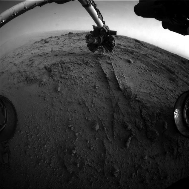 NASA's Mars rover Curiosity used a new technique, with added autonomy for the rover, in placement of the tool-bearing turret on its robotic arm during the 399th Martian day, or sol, of the mission.