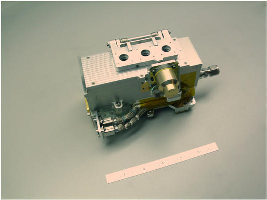 The engineering model of the Extreme Ultraviolet (EUV) sensor that is part of the Langmuir Probe and Waves (LPW)/EUV experiment on MAVEN and will measure the solar EUV input to the atmosphere.