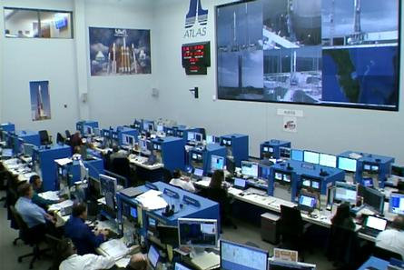In the Launch Control Center at Cape Canaveral Air Force Station in Florida, agency and contractor managers and engineers monitor progress in the countdown to launch the Mars Atmosphere and Volatile Evolution, or MAVEN, spacecraft atop an Atlas V rocket.
