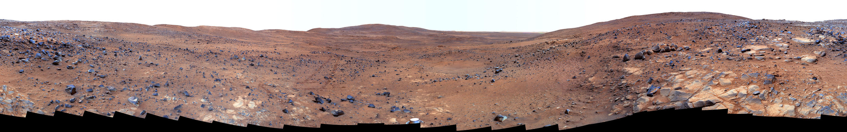 "In late November 2005 while descending ""Husband Hill,"" Spirit took the most detailed panorama so far of the ""Inner Basin,"" one of the rover's target destination."