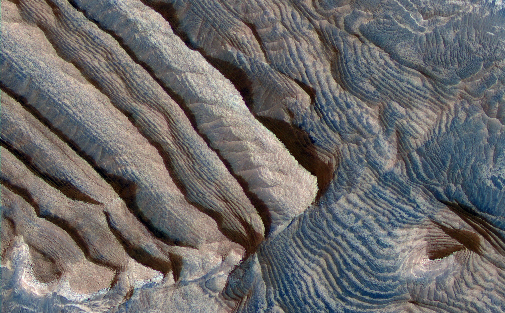 Periodic Layering in Martian Sedimentary Rocks