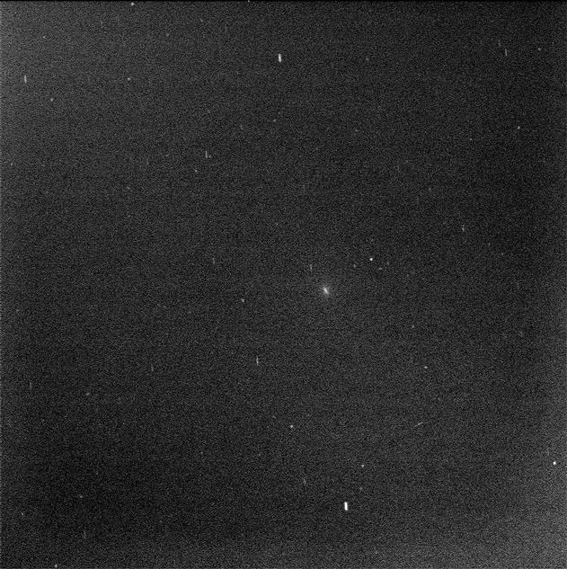 Mars Rover Opportunity's View of Comet (Blink of Two Exposures)