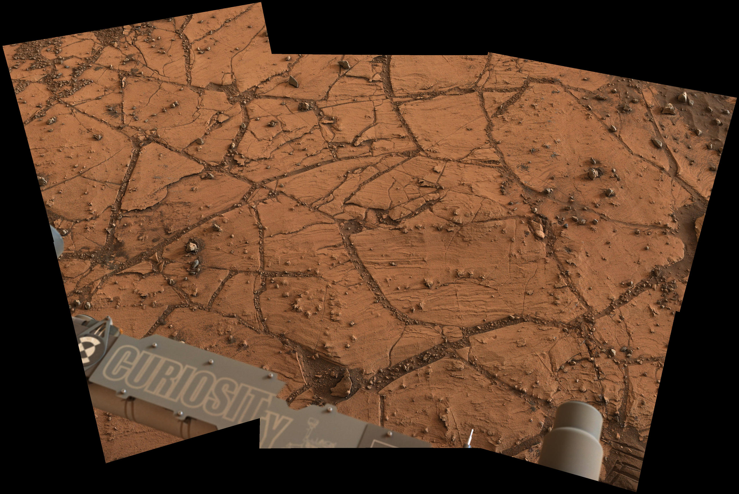 Fine-Grained Rock at Base of Martian Mount Sharp