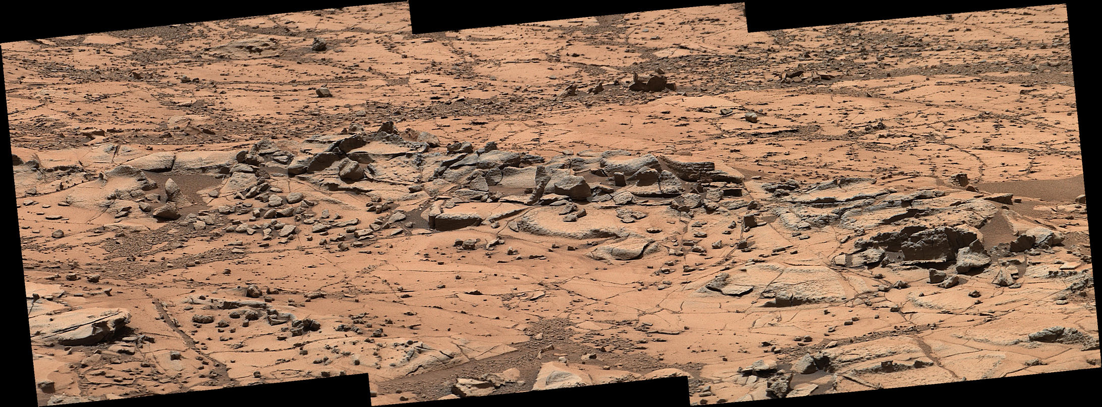 Erosion Resistance at 'Pink Cliffs' at Base of Martian Mount Sharp