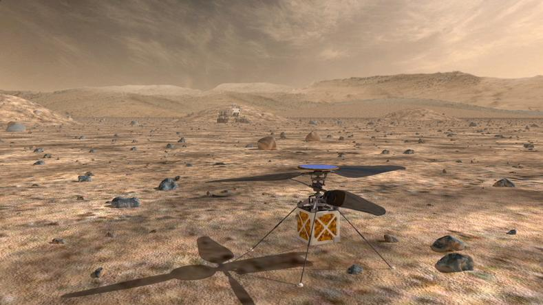 A proposed helicopter could triple the distances that Mars rovers can drive in a Martian day and help pinpoint interesting targets for study.