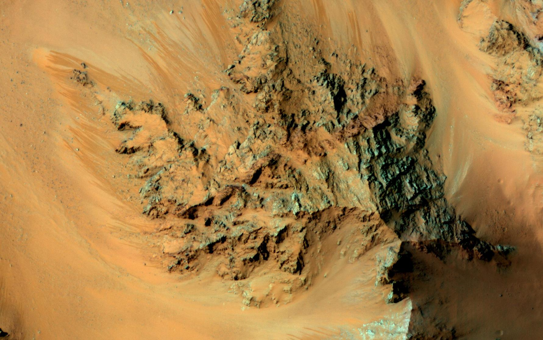 Recurring slope lineae (RSL) are active flows on warm Martian slopes that might be caused by seeping water.