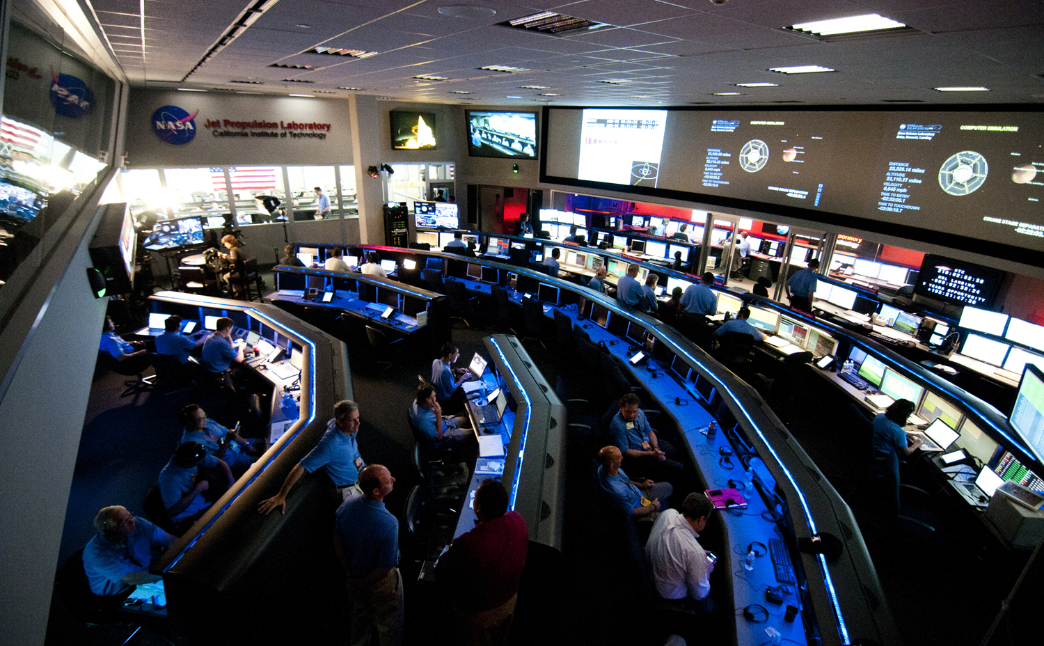 The Space Flight Operations Center, a National Historic Landmark, has been operational and staffed every day since 1964.  Here engineers send and receive commands for any spacecraft in, and beyond, our Solar System.