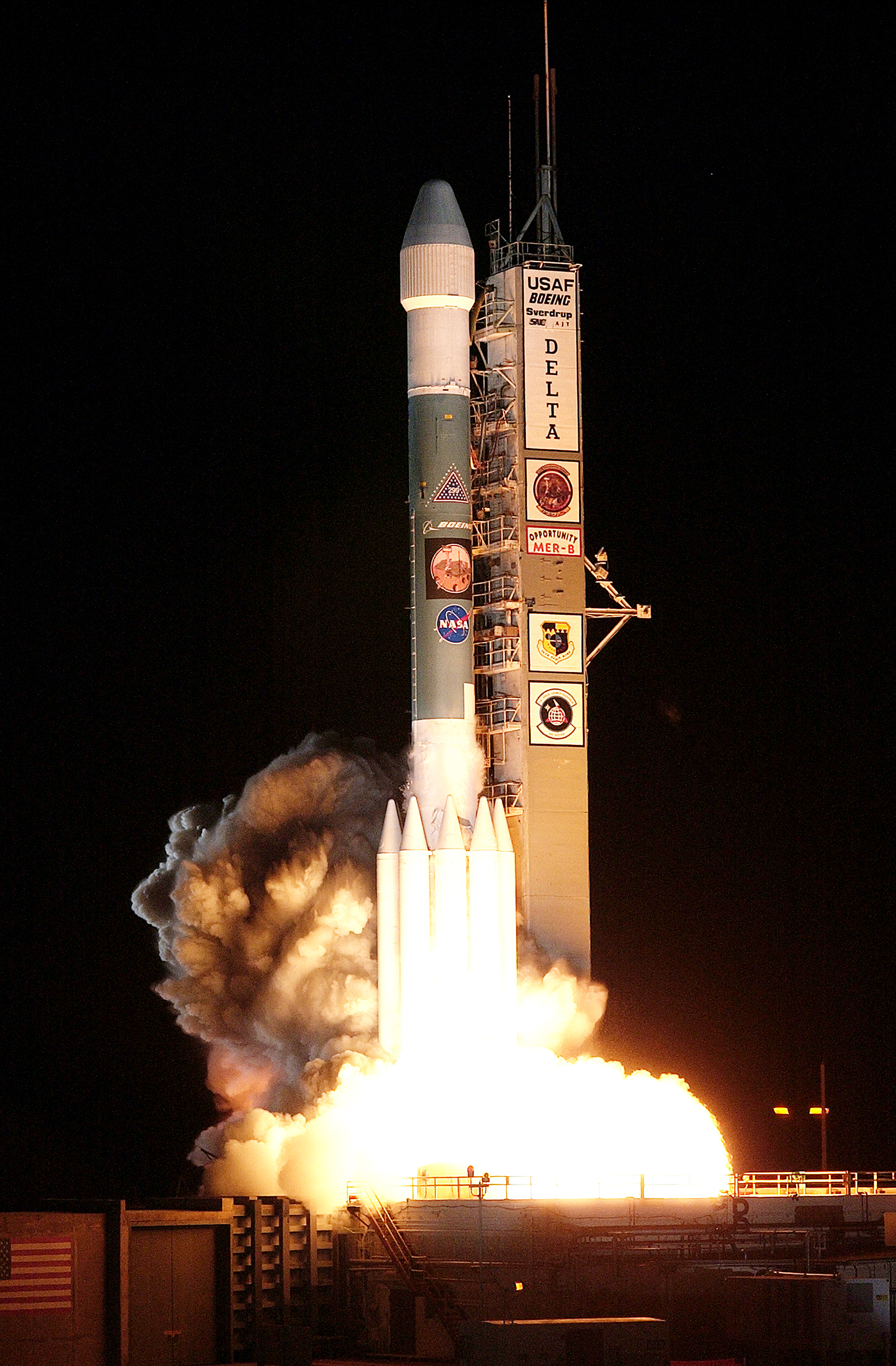 "The second Mars Exploration Rover, Opportunity, was the first NASA mission lifted on what is referred to as a Delta II ""heavy"" rocket."