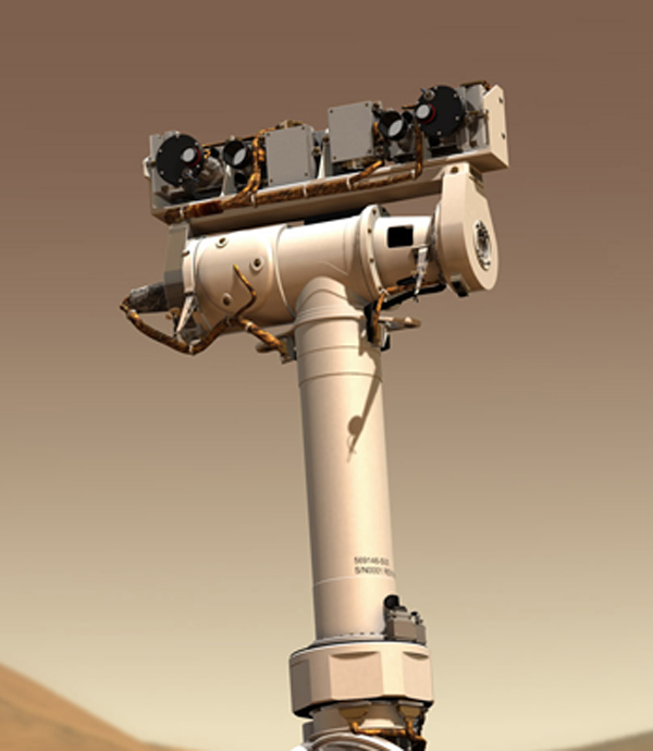 "What looks like the rover ""neck and head"" is called the Pancam Mast Assembly."