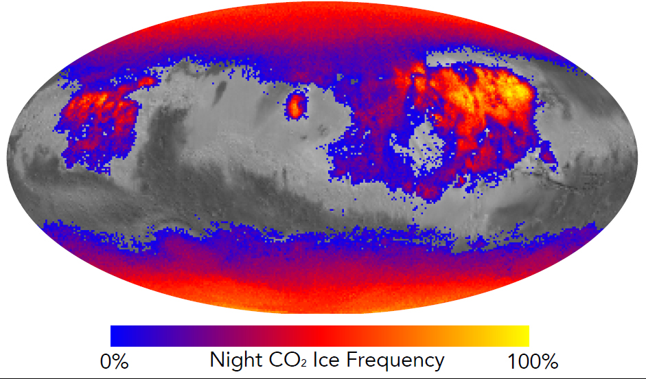 Where on Mars Does Carbon Dioxide Frost Form Often?
