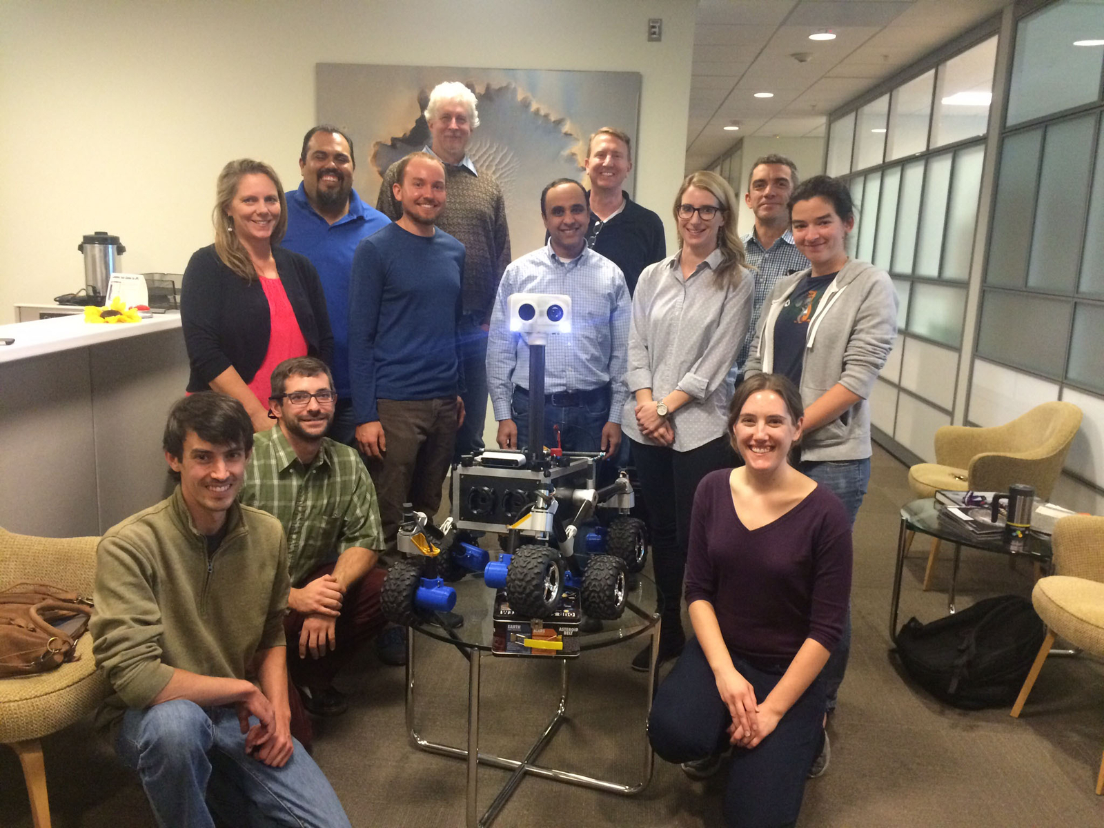 This is the team that built ROV-E with their mentors.