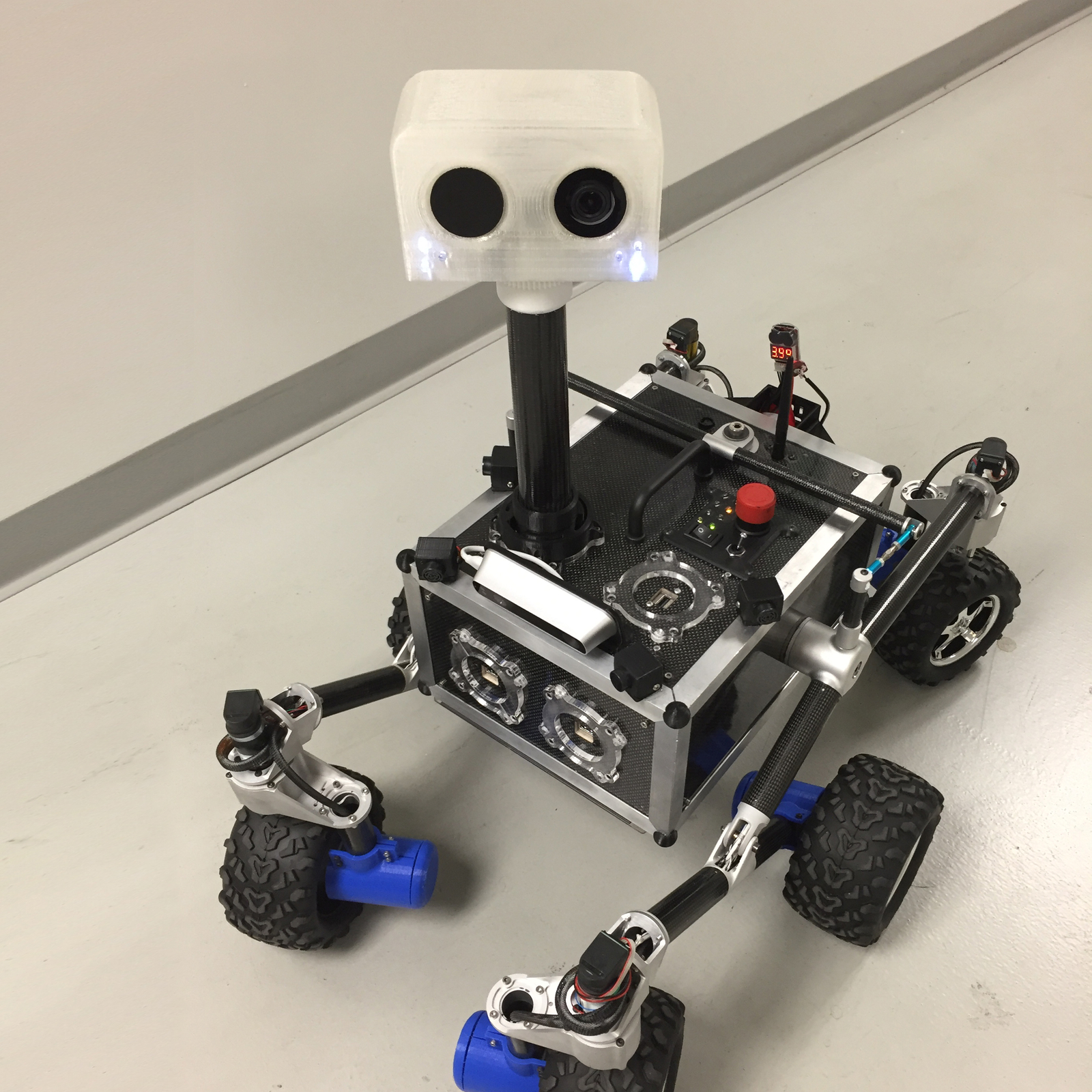 This is ROV-E a new Mars outreach rover used to engage the public.
