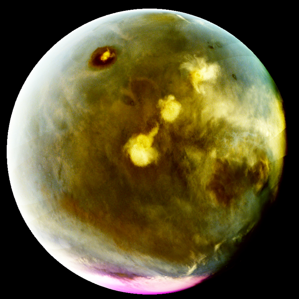 MAVEN's Imaging UltraViolet Spectrograph obtained images of rapid cloud formation on Mars on July 9-10, 2016.