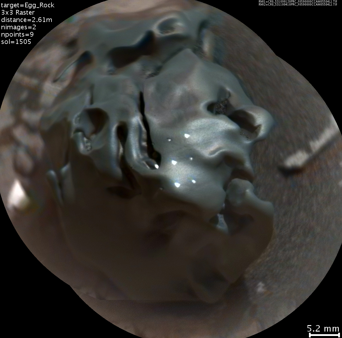 Iron-Nickel Meteorite Zapped by Mars Rover's Laser